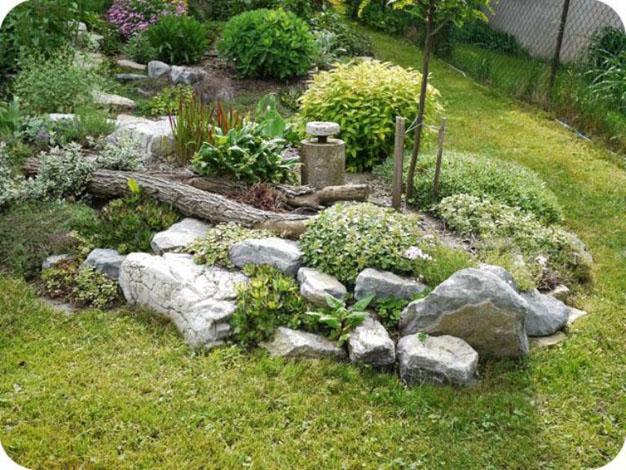 10 ideas con piedras para el jard n - Piedras grandes para jardin ...