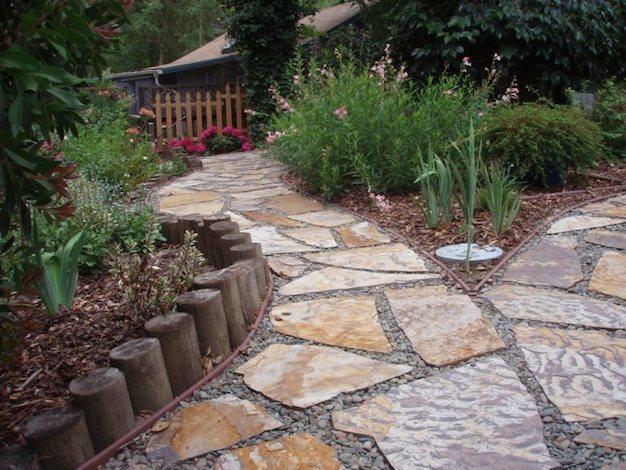 11 ideas de caminos para el jard n for Camino de piedra jardin