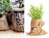 imagen El uso de sacos de yute en el jardín