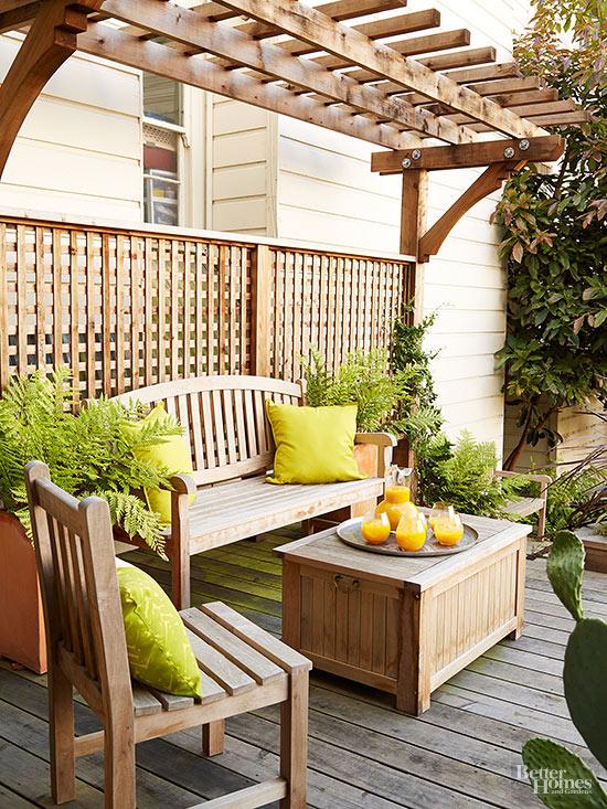 Ideas para crear espacios sombreados - Como disenar una terraza jardin ...