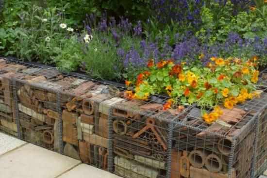 7 ideas de muros decorativos para canteros - Mesas de piedra para exterior ...
