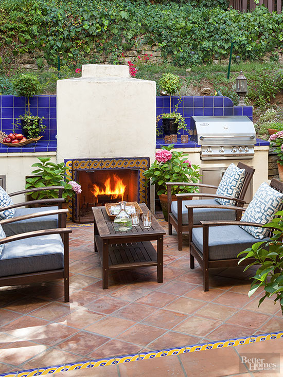 Patio chimenea modern patio outdoor - Ideas para chimeneas ...