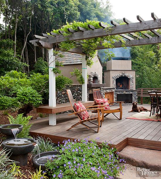 9 ideas de chimeneas para tu patio for Ideas decorativas para patios