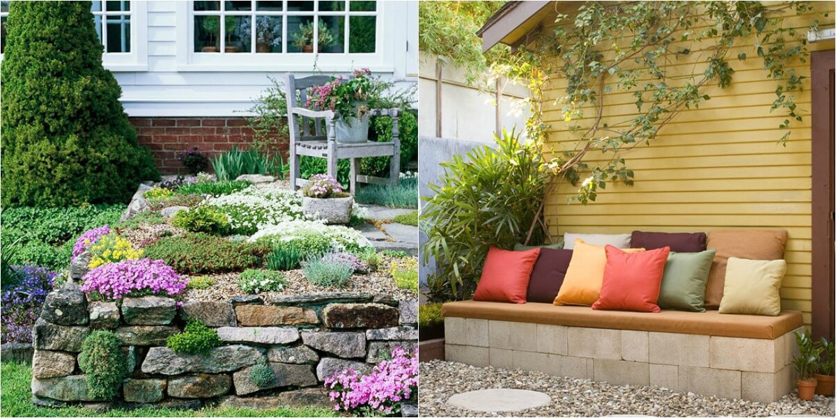 15 ideas econ micas para decorar tu patio for Ideas para decorar paredes de jardin