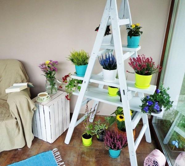 Escalera Estanteria Para Tus Plantas De Interior - Estanteria-para-plantas
