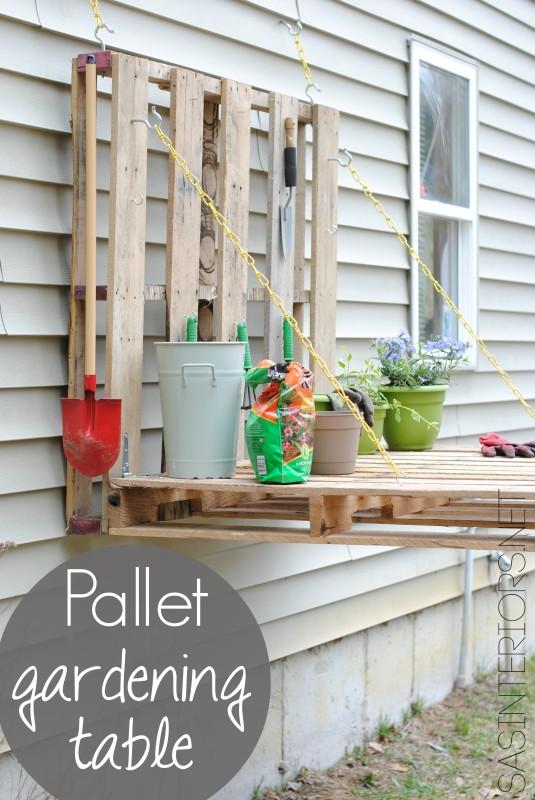 C mo hacer una mesa de jardiner a con palets - Trabajar con palets ...