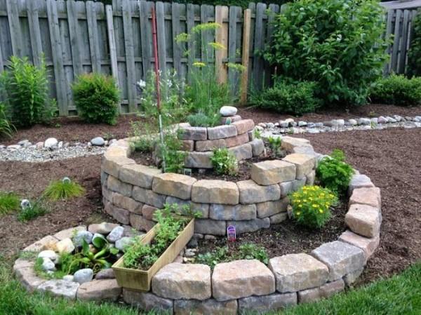 C mo crear un jard n de hierbas arom ticas en espiral for Jardinera plantas aromaticas