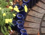 imagen Borduras para jardín con materiales reciclados