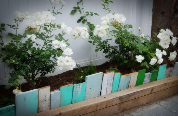 Borduras para jard n con materiales reciclados - Material para jardin ...