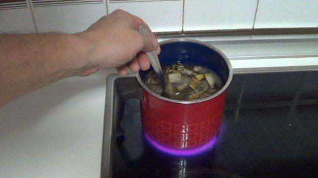 como hacer te de platano