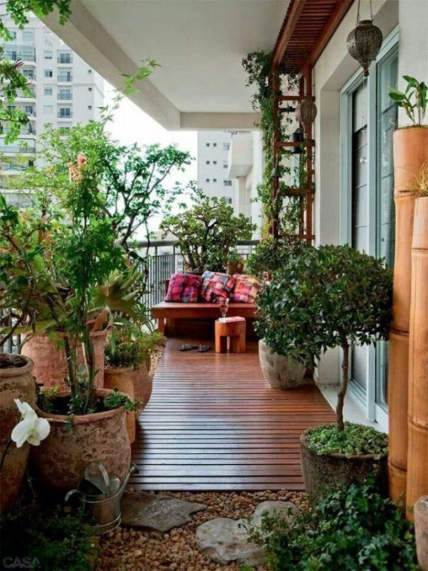 Ideas for creating a garden on the balcony 1
