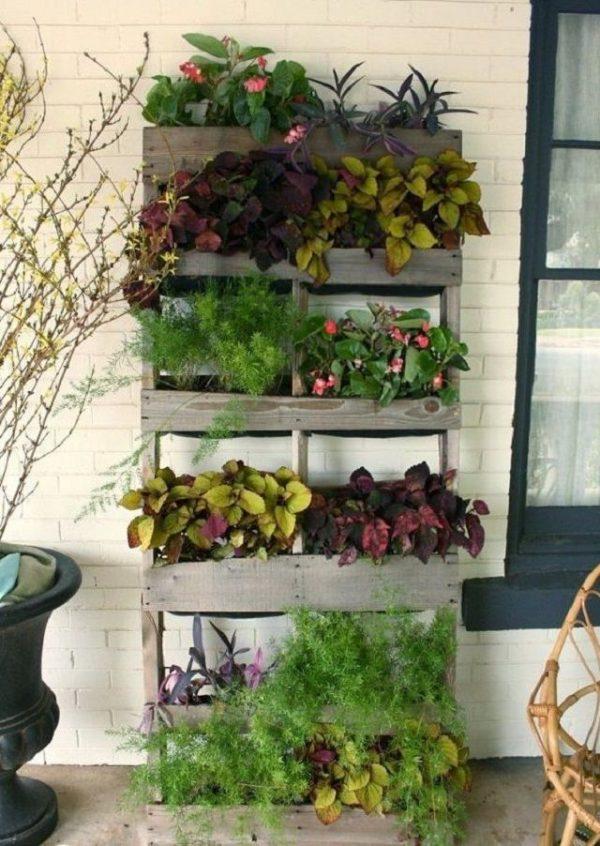 Ideas for creating a garden on the balcony 5