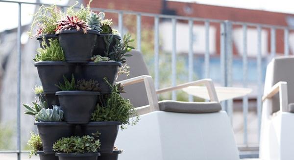 Ideas for creating a garden on the balcony 8