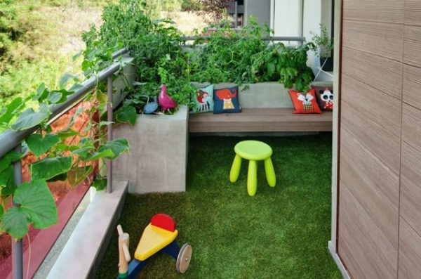 Ideas for creating a garden on the balcony 9
