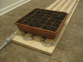 How to make a carpet of heat to seedlings 9