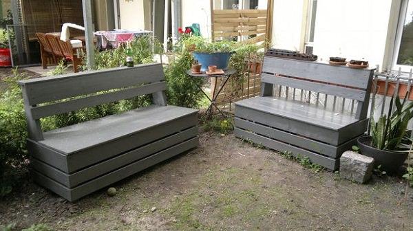 Ideas DIY storage for the garden 1