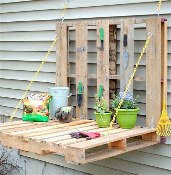 Ideas DIY storage for the garden 3