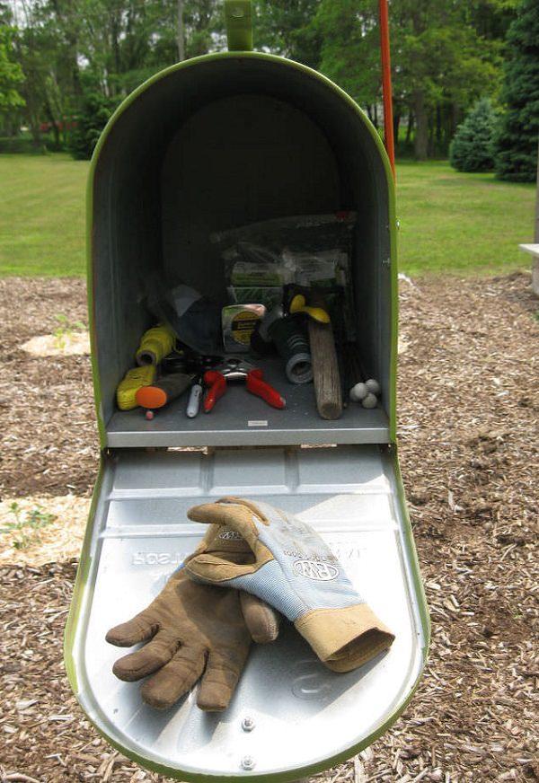Ideas DIY storage for the garden 5