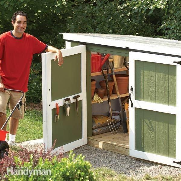 Ideas DIY storage for the garden 7