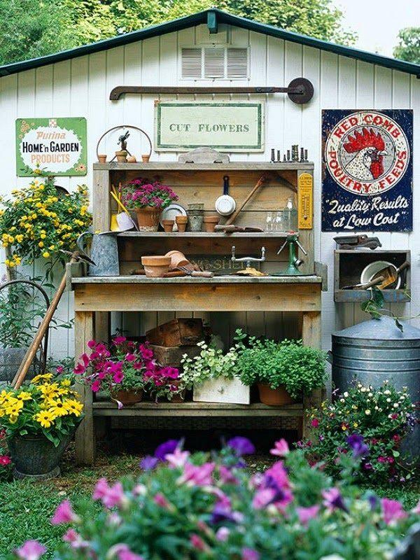 Ideas DIY storage for the garden 8