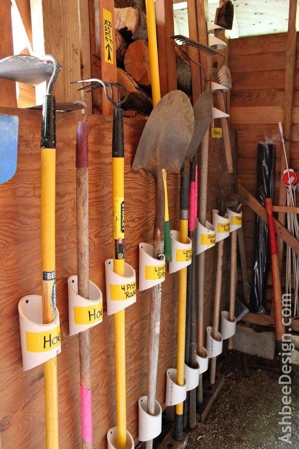 Ideas DIY storage for the garden 10