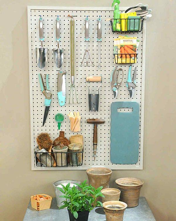 Ideas DIY storage for the garden 13