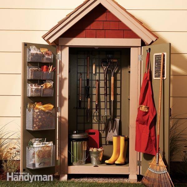 Ideas DIY storage for the garden 16