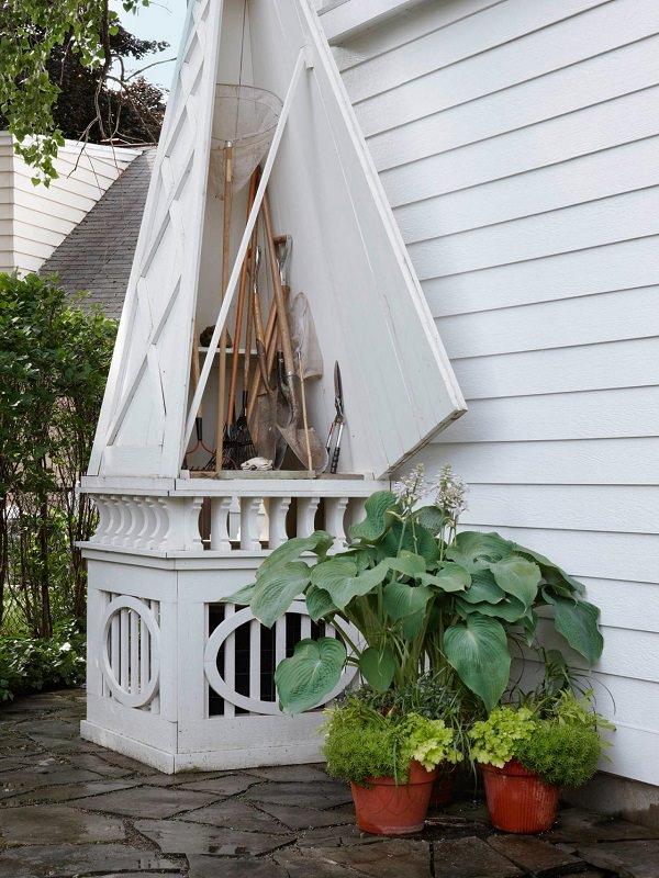 Ideas DIY storage for the garden 17