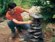 imagen Cómo construir una fuente con cascada de piedras