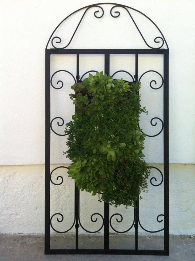 Las mejores ideas para crear tu propio jard n vertical for Reja para jardin vertical