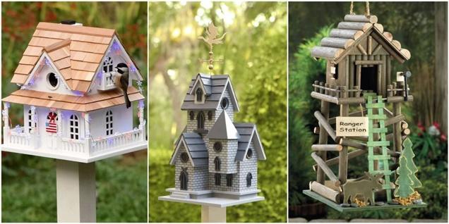 10 casas de pájaros para decorar tu jardín
