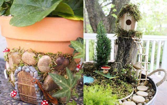 Encantadoras ideas de jardines en miniatura