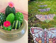 imagen Bonitas ideas de decoración de jardines con piedras y rocas