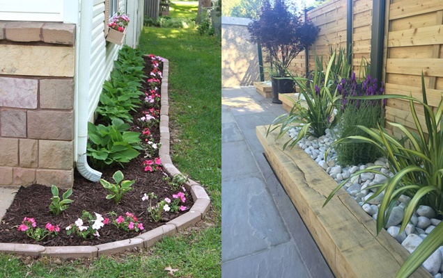 Creativas ideas de bordes de jardin