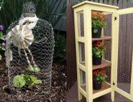 imagen 12 proyectos para el jardín con alambre de gallinero
