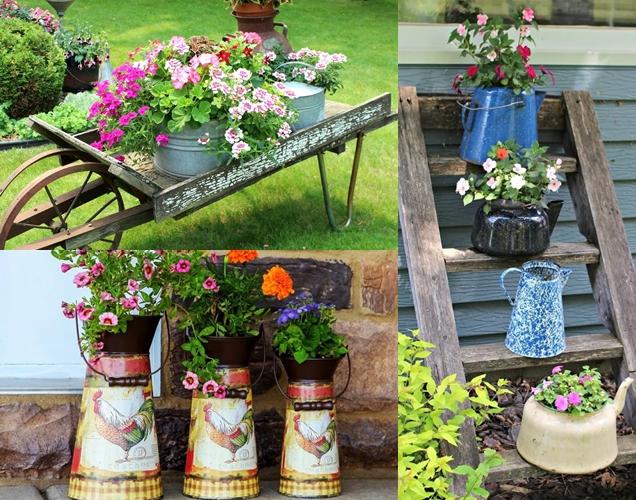 decoraciones de jardin vintage